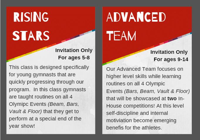 In-House Team Class Descriptions 2019-20