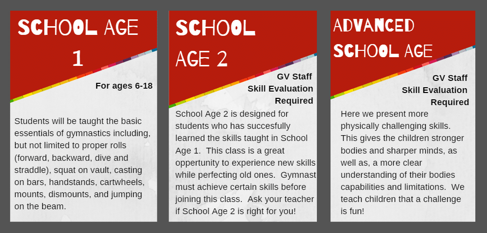 School Age Class Descriptions 2019-20