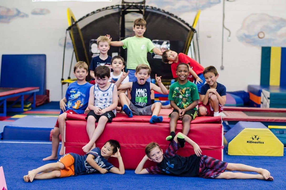 Boys Birthday Group at Garnet Valley Gymnastics