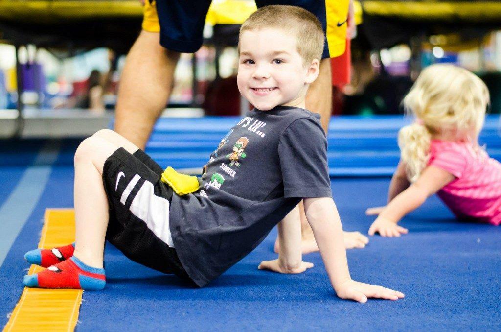 Boy in Preschool Gymnastics