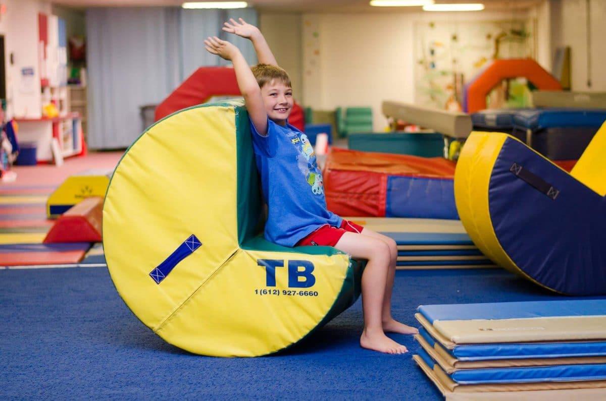 Tumbling Child at Garnet Valley Gymnastics